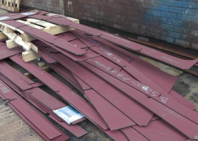 More steel parts in the yard