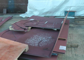 Pre cut steel parts have been arriving over the last few weeks