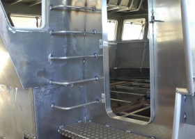 The footplate and steps to the wheelhouse roof have been built