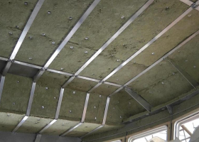 Insulation has been fitted in the wheelhouse ceiling