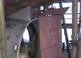 The rudder has been fitted behind the nozzle