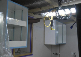 The wall units are also now fitted in the galley