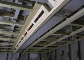 Another part of the framing on the fish room ceiling