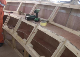 The front of the wheelhouse where displays are to be mounted