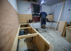 Joinery in the galley