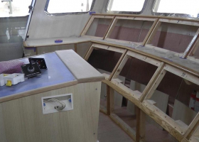 Progress continues in the wheelhouse forard part