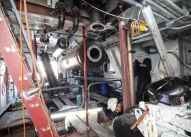 Inside the engine room