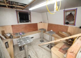 The galley dining area